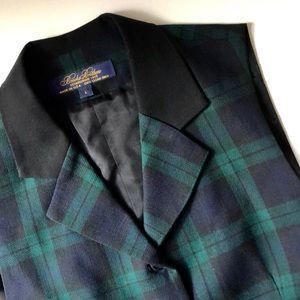 Brooks Brothers Wool Tartan Plaid Vest